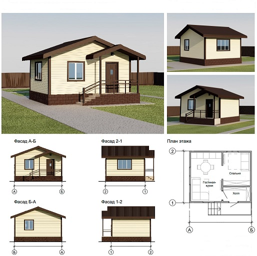 Дом из бруса с балконом, фото, цена