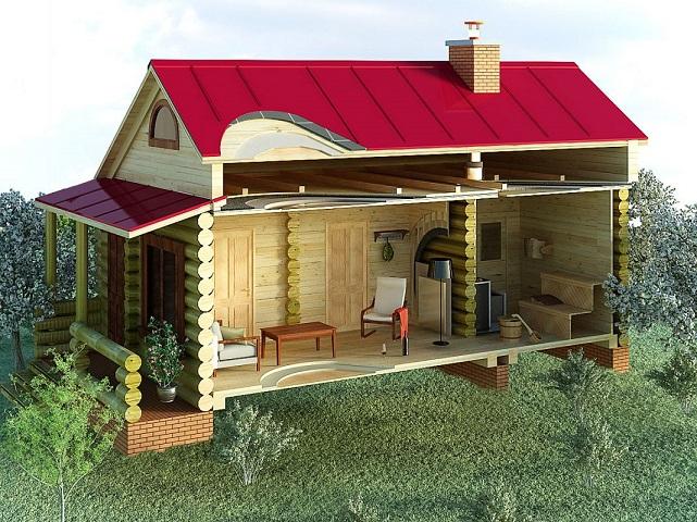 каркасный дом с декоративной отделкой