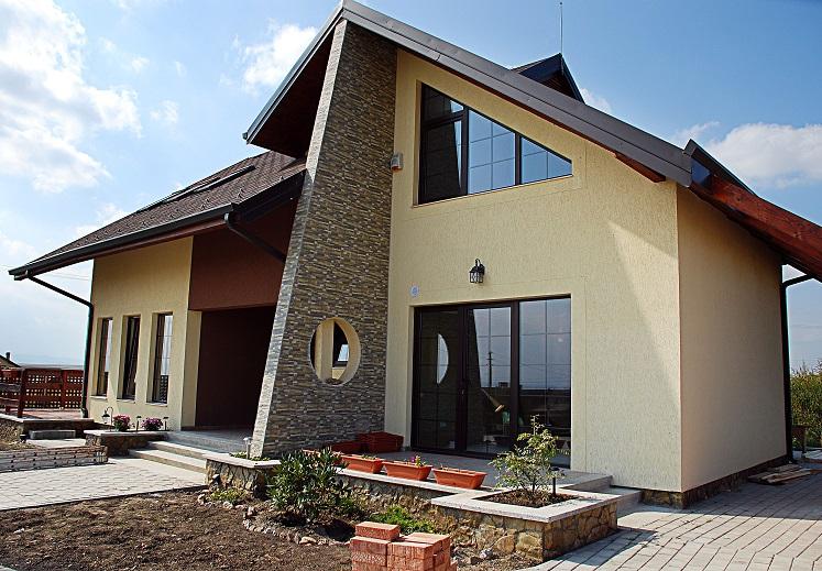 современный и стильный щитовой дом