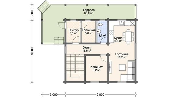 Проект дом 8х9 от 1 296 000 руб