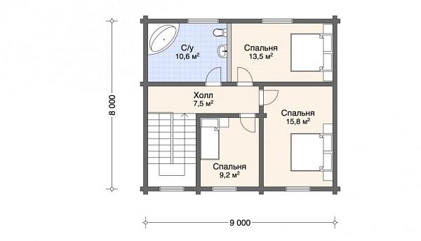 Проект - 2 дом 8х9 от 1 296 000 руб