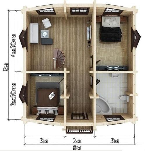 Проект - 2 дом 8х10 от 1 440 000 руб