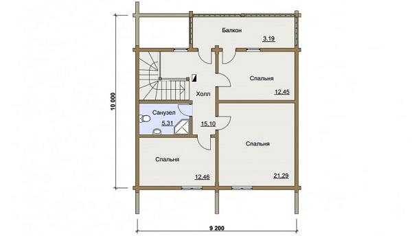 Проект - 2 дом 9,2х10 от 1 660 000 руб