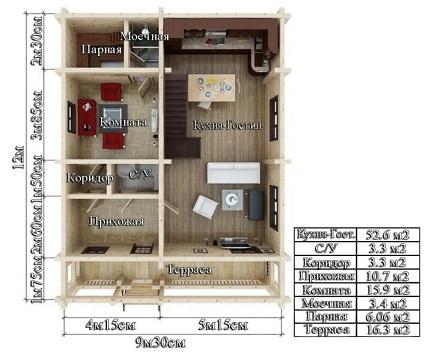 Проект дом 9,3х12 от 2 000 000 руб