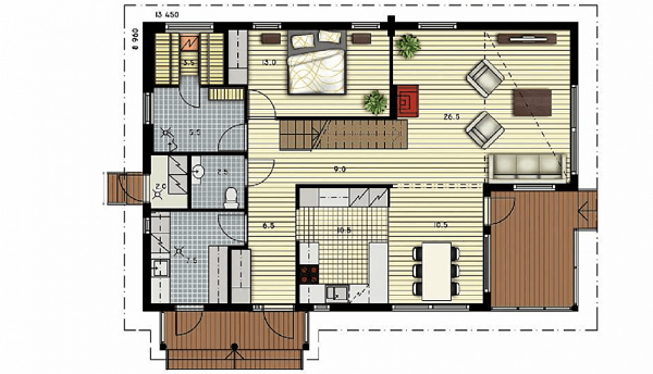 Проект дом 8,9х13,4 от 2 140 000 руб