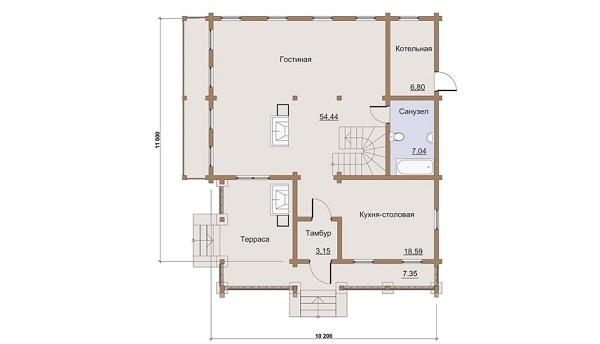 Проект дом 10,2х11 от 2 000 000 руб