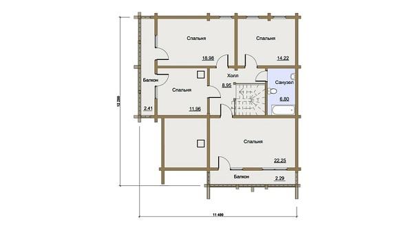 Проект - 2 дом 11,4х12,2 от 2 500 000 руб