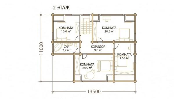 Проект - 2 дом 11х16 от 3 100 000 руб