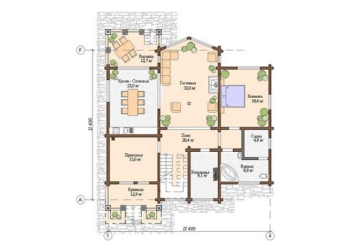 Проект дом 12,4х13,4 от 3 000 000 руб
