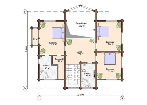 Проект - 2 дом 12,4х13,4 от 3 000 000 руб