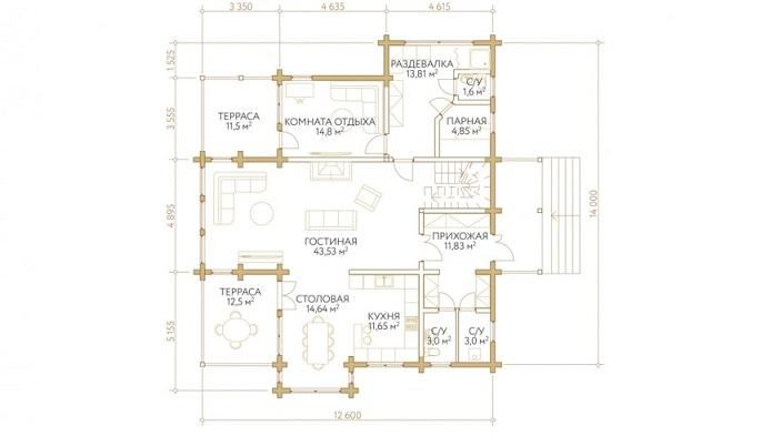 Проект дом 12,6х14 от 3 200 000 руб