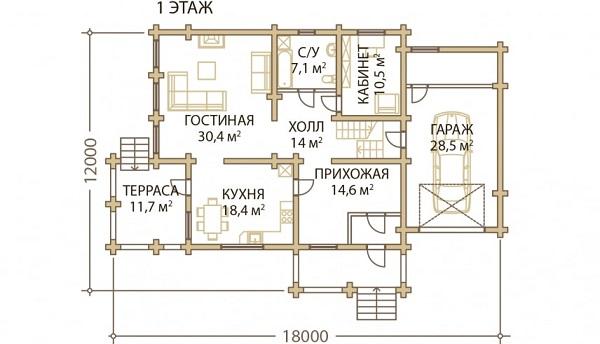 Проект дом 12х18 от 3 900 000 руб