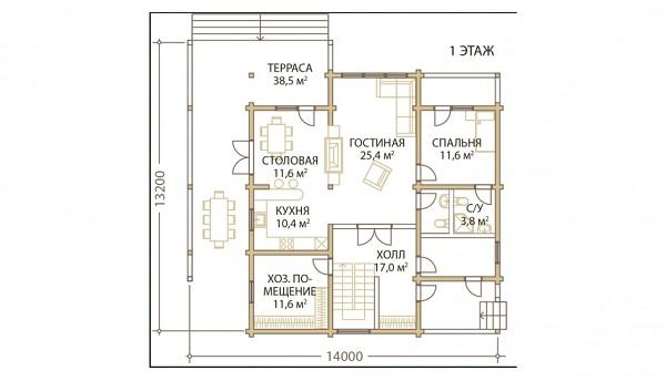 Проект дом 13,2х14 от 3 300 000 руб