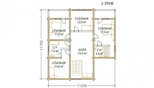 Проект - 2 дом 13,2х14 от 3 300 000 руб