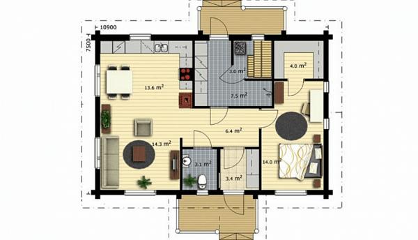 Проект дом 7,5х10,9 от 740 000 руб