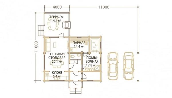 Проект дом 9х11 от 890 000 руб