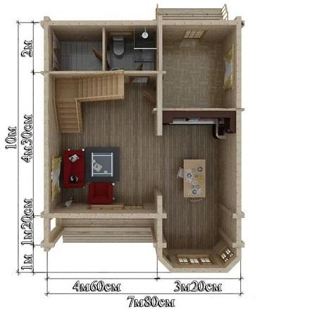 Проект дом 7,8х10 от 1 400 000 руб