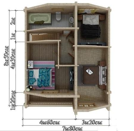 Проект - 2 дом 7,8х10 от 1 400 000 руб